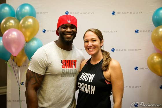 Chris Downing, Beachbody's newest super trainer, in Pittsburgh for a live Shift Shop workout with Beachbody coaches at the Northeast Regional Conference in August 2017